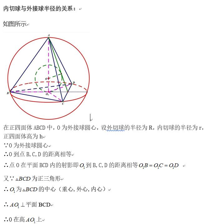 如何学好高中数学-正四面体内切球和外接球问题证明